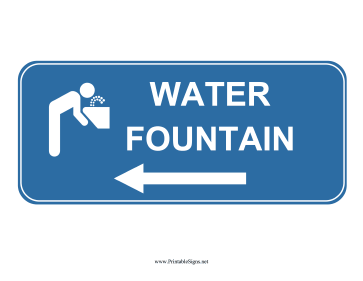 Water Fountain Left Sign