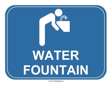 Water Fountain Sign Sign