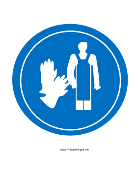 Wear Apron And Gloves Sign