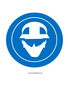 Wear Eye Head Protection Sign