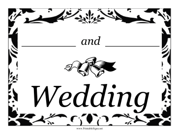 Wedding Lawn Sign Sign