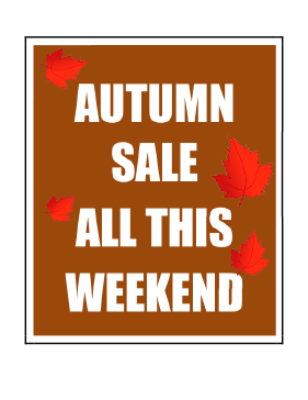 Weekend Autumn Sale Sign
