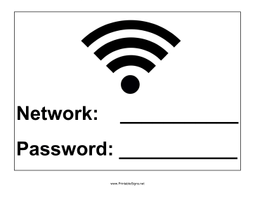 Wi-Fi Password Sign
