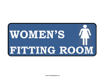 Women Fitting Room Sign