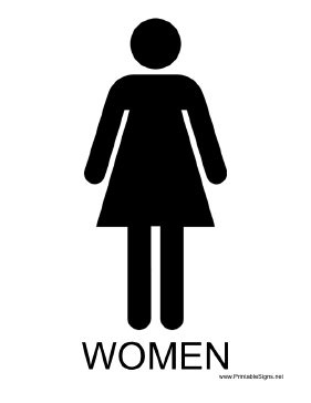 Women with caption Sign