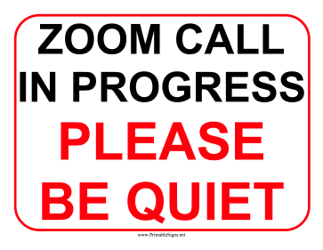 Zoom Call Sign