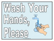 Effortless image with printable hand washing signs